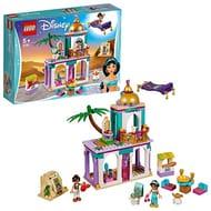 LEGO Disney Princess Aladdin and Jasmine Palace Toy Set with Mini Dolls