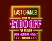 Jet2holidays - Get up to £100pp off Ends Midnight Monday