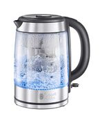 SAVE £23 Russell Hobbs BRITA Filter Purity Glass Kettle Blue Light Illumination