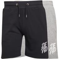 de7527c1e0 2x DFND London Mens Wright Two Pack Shorts Grey Marl/Black - Save £20