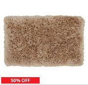 Tumble Twist Long Pile (Pebble or Silver) Bath Mat - HALF PRICE