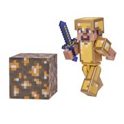 Minecraft Steve in Gold Armour Pack