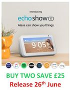 NEW! Echo Show 5 Compact Smart Display with Alexa - BUY 2, SAVE £25