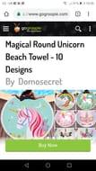 Round Unicorn Towel