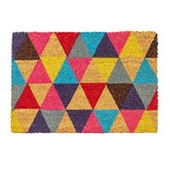 Nicola Spring Triangles Design Non-Slip Coir Door Mat Only £7.99 Delivered