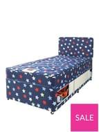 Airsprung Kids Stars & Butterflies Storage Single Divan Pink or Blue
