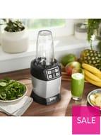 *SAVE £50* NINJA Nutri Ninja 1000-Watt Blender with Auto-iQ - Silver