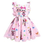 Girls Sleeveless Backless LOL Surprise Doll Party Dress