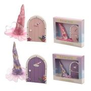 Enchanted Rainbow Unicorn Horn and Magical Unicorn Door Set Assorted