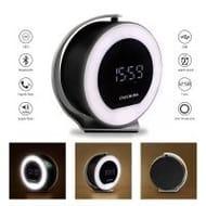 Wireless Night Light Bluetooth Speaker with Digital Alarm Clock
