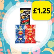 6 Pack of Your Favourite Crisps for Only £1.25