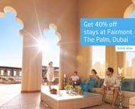 Escapism - save 40% on Stays at Fairmont the Palm, Dubai