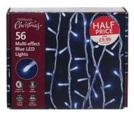 WHSmith 56 Blue Multi-Effect LED Lights