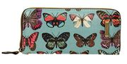 Coco Glitter Multicolor Butterfly Print Wallet - Large FREE DELIVERY