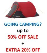 CHEAP TENTS & CAMPING - up to 50% Camping SALE + EXTRA 20% OFF