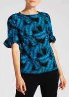 Palm Print Frill Sleeve Blouse - £6 off at Matalan