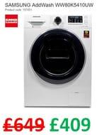 SAVE £240 - SAMSUNG AddWash 8 Kg 1400 Spin Washing Machine