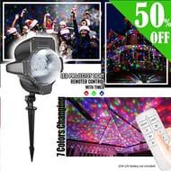 Christmas Projector Light, iEZok White Snow Projector Light IP65