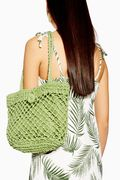 Fizzle Green Straw Tote Bag Down From £22 to £10