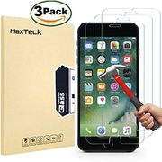 MaxTeck [3 Pack] iPhone 6 6S 7 8 Screen Protector