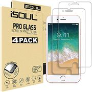 [4 Pack] Screen Protector for Apple iPhone 7