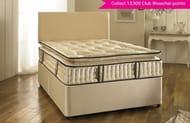 Pillowtop 2000 Pocket Spring Divan Bed with Mattress, Headboard