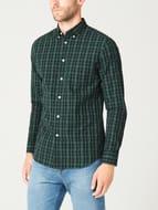 Braham Cotton Poplin Checkered Shirt - Save £10