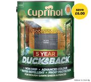 Cuprinol Ducksback Shed and Fence Wood Paint 5L - Free Click & Collect