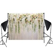 Iiloens Flower Wall Wedding Photography Props 3D Photo Background Cloth