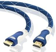 3M HDMI Cable High Speed v2.0/1.4a 18Gbps 2160p 3D TV PS4 SKY HD