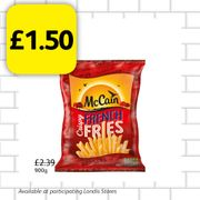 900g Mccain Crispy French Fries Only £1.50!