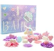 Unicorn Bath Bomb Surprises Gift Set : 24 Scented Bath Bombs Confetti & Salts