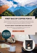 Cafdirect - £1 for Your First Bag of Coffee