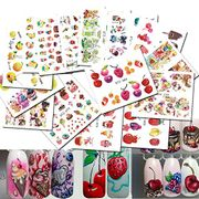 Nail Art Water Transfer Stickers Fruit/Ice Cream/Cake Nail Tips Stickers