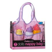 Dolls Nappy Bag with Accessories 7pc