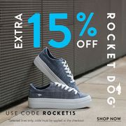 Extra 15% off Rocket Dog
