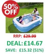 1/2 PRICE Bestway 2 Metre Inflatable Paddling Pool
