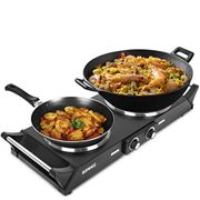 Duronic Hot Plate HP2BK | Table-Top Cooking | 2500W | Black Steel Electric