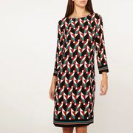 Dorothy Perkins - Tall Multi Colour Geometric Print Shift Dress