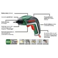 SAVE £15 - Bosch IXO v 3.6V Cordless Screwdriver with Accessories