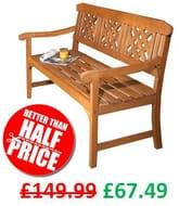 SAVE £82 - 3 Seater Garden Bench **4.8 STARS**