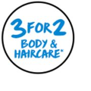 3 for 2 on Body and Haircare