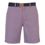 Pierre Cardin Check Belted Shorts (Various Colours)