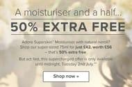 50% Extra Free Superskin Moisturiser!