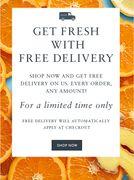 Whoopee! Free Delivery Starts Now!