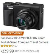 Amazon Deal of the Day: Panasonic Lumix Compact Camera - save £90