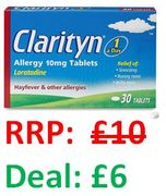 """Clarityn Allergy Relief Tablet - Amazon's Choice for """"Hayfever Tablet"""" (30)"""