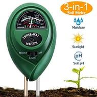 Suplong Soil PH Testing Kit 3 in 1Soil Moisture Meter Plant Soil Tester Kit