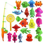 22Pcs Baby Bathing Toy Magnetic Fishing Toy