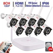 Tonton CCTV Surveillance System,1080P Wireless Security Camera System,8CH NVR
